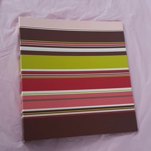 Other - 💥2/$15💥striped 3 ring binder